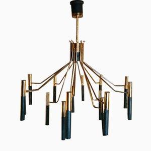 Lampe mit 15 Leuchten von Oscar Torlasco für Lumi