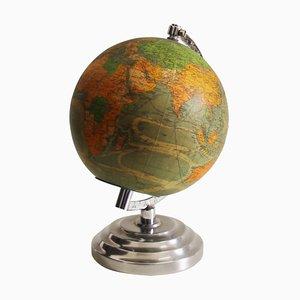 French Illuminated Globe, 1940s