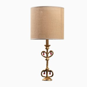 Bronze Lamp by Constance D for Lucien Gau