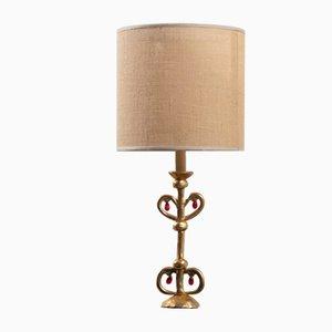 Lámpara de bronce de Constance D para Lucien Gau