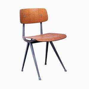 Blaugrauer Result Stuhl aus Teak von Friso Kramer für Ahrend De Cirkel, 1950er