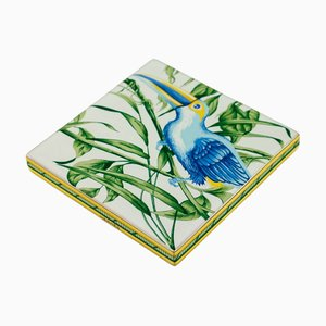 Square Moustiers Toucans Coaster from Hermes