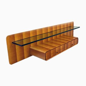 Consola colgante de madera de La Permanente Mobili Cantù, años 50