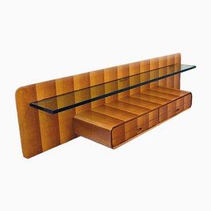 Consolle sospesa in legno di La Permanente Mobili Cantù, anni '50