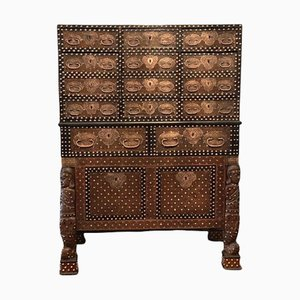 17th Century Indo-Portuguese Cabinet on Stand