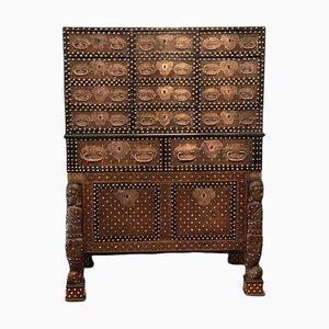 Mobiletto indo-portoghese, XVII secolo