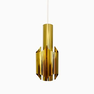 Golden Pendant Lamp, 1960s