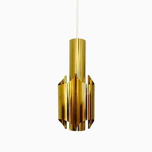 Lámpara colgante dorada, años 60