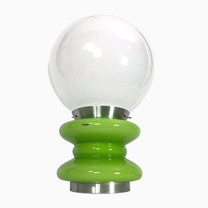 Lámpara de mesa grande de cristal de Murano verde de Stilux Milano, años 60