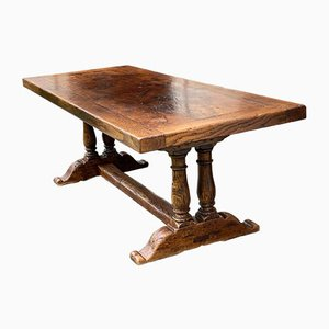 French Oak Farmhouse Refectory Dining Table Wonderful Colour