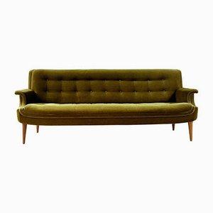 Vintage Danish Velvey Sofa and Armchairs Set, 1950s