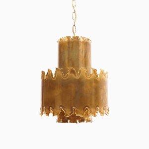 Lámpara de techo brutalista de Svend Aage Holm Sørensen para Holm Sørensen & Co., años 60