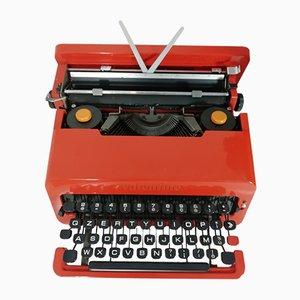 Macchina da scrivere Valentine rossa di Ettore Sottsass per Olivetti, 1968