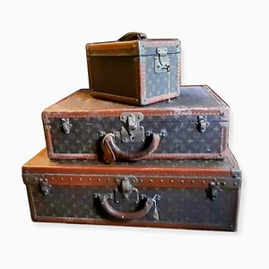 Beuty Case Trunks from Louis Vuitton, 1970s, Set of 3