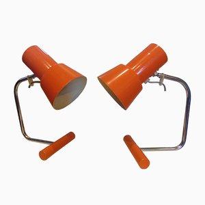 Lampe de Bureau par Josef Hurka pour Napako, 1970s, Set de 2