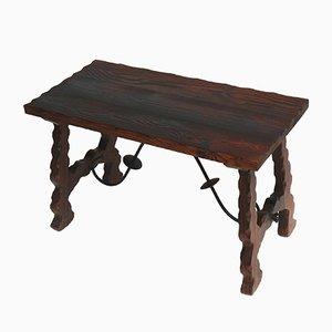 Large Vintage Spanish Brutalist Side Table, 1960s