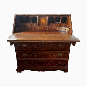 Secreter de madera satinada y nogal, siglo XIX