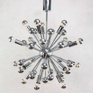 Sputnik Deckenlampe aus Chrom, 1970er