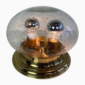 Mushroom Deckenlampe aus Messing & Glas von Limburg, 1970er