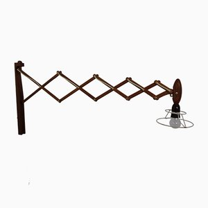 Teak Scissor Lamp by Erik Hansen for Le Klint, 1950s