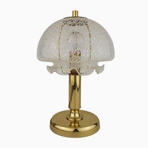 Mushroom Tischlampe aus Messing & Glas von Leclaire & Schäfer, 1970er