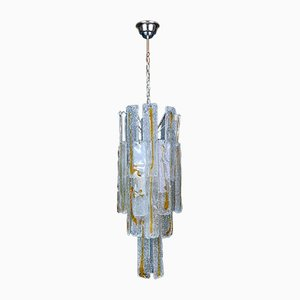 Large Mid-Century Murano Glass Chandelier from Mazzega, Italy, 1970s