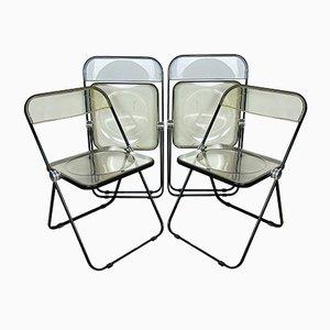 Plia Folding Chairs by Giancarlo Piretti for Castelli, Italy, 1970s, Set of 4