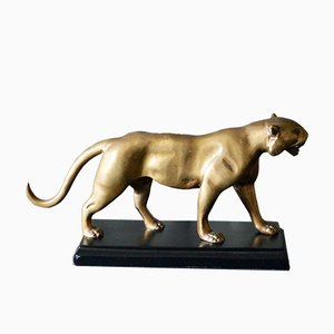 Panther Skulptur, Frankreich, 1970er, Bronze