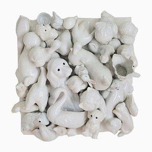 Opera d'arte con animali, nello stile di Jeff Koons, Stati Uniti, anni '90, porcellana