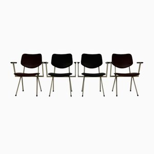 Dutch Industrial Low Seat Armchairs from Ahrend De Cirkel, Set of 4