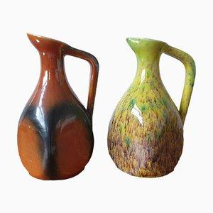 Jarras de cerámica de Potiers Daccolay. Juego de 2