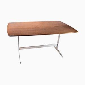 Mesa de comedor Shaker de teca y estructura de metal de Arne Jacobsen, años 60