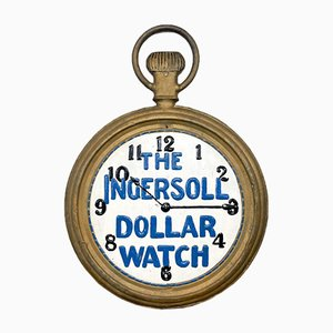 Antique Double-Sided Ingersoll Watches Advertising Shop Sign
