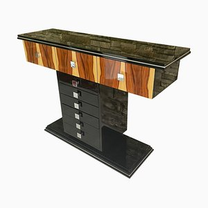 Art Deco Console Table with Rosewood Veneer