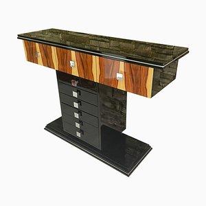 Mesa consola Art Déco con chapa de palisandro