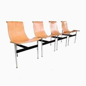 Chaises T par William Katavolos, Douglas Kelley & Ross Littell pour ICF, 1960s, Set de 4