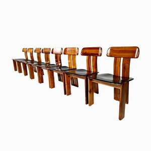 Dining Chairs by Sapporo for Mobil Girgi, Italy, 1970s, Set of 8