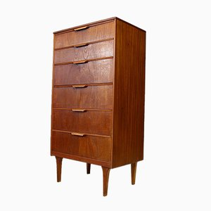 Mid-Century Tallboy Chest of Drawers by Frank Guille for Austinsuite, 1950s