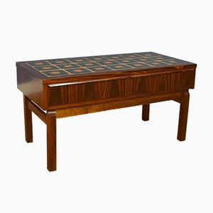 Mid-Century Danish Retro Rosewood and Tile Console and Hall Table, 1960s