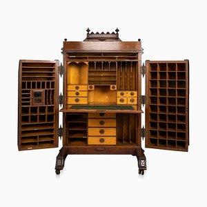 Antiker amerikanischer klappbarer Schreibtisch von Wooton, 1880er