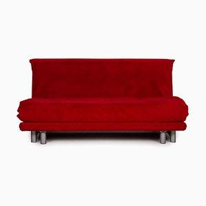 Sofá de dos plazas Multy de tela roja de Ligne Roset