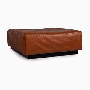 Brown Leather Tema Stool by Franz Fertig