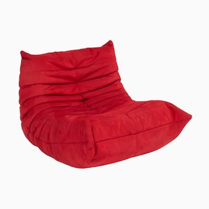 Togo Red Armchair by Michel Ducaroy for Ligne Roset