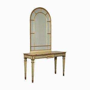 Consola Revival con espejo, Italia, siglo XX