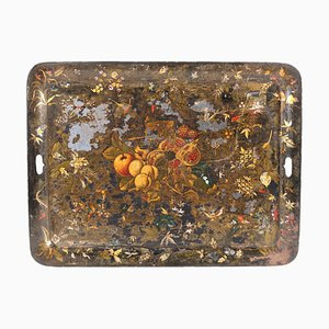 Large Lacquered Metal Tray