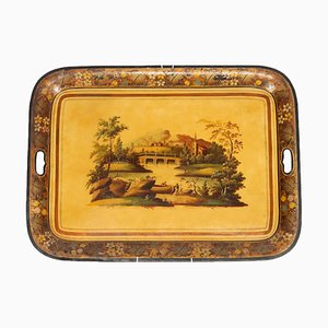 Iron Tray with Decoration
