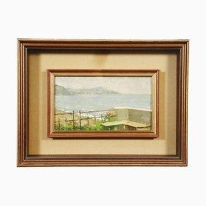 Ernesto Alcide Campestrini, Landschaftsmalerei, Öl auf Leinwand