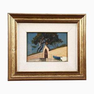 Alcide Davide Campestrini, Landschaftsmalerei, Öl auf Leinwand