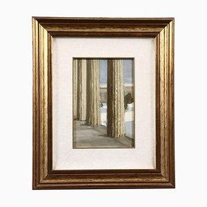 Alcide Davide Campestrini, pintura de paisaje, óleo sobre lienzo