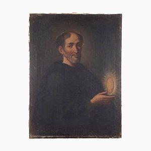 Figura de santo, óleo sobre lienzo